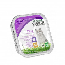 Tarrina gato Pate con Pollo y Pavo Bio 100gr Yarrah