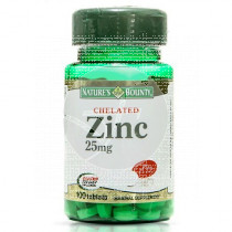 ZINC 25MG NATURE´S BOUNTY