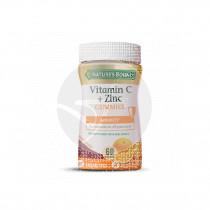 Vitamin C+Zinc sabor naranja sin gluten 60gummies Nature´s Bounty