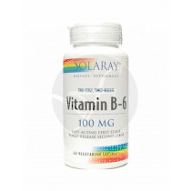 Vitamina B6 100Mg 60 capsulas Solaray