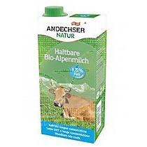 Leche De Vaca SemiDesnatada Uht Bio 1L Andechser Natur