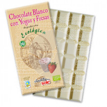 CHOCOLATE BLANCO CON YOGUR Y FRESAS ECO CHOCOLATES SOLE