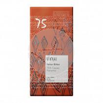 Chocolate negro 75% cacao con azúcar de coco Vivani