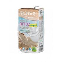 Bebida vegetal de arroz integral quino bio Monsoy