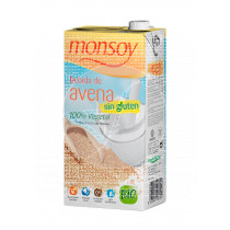 Bebida vegetal de avena sin gluten bio Monsoy