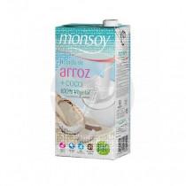 Bebida Vegetal De Arroz y Coco Bio Monsoy
