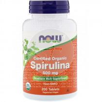 Espirulina Orgánica 500Mg 200 comprimidos Now