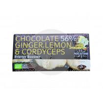 Chocolate 56% Jengibre Limon y Cordyceps Hifas Da Terra