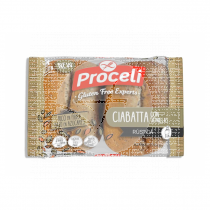 Ciabatta rústica con semillas Sin gluten 2x60gr Proceli