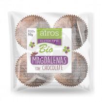 Magdalenas de chocolate sin gluten bio Airos