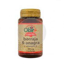 Borraja y Onagra + Vitamina E 500Mg Obire