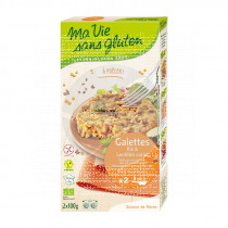 Hamburguesas de arroz y lentejas rojas bio Ma Vie Sans Gluten