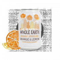 Refresco Bio De Naranja y Limón 330ml Whole Earth