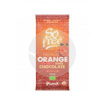 So Free Chocolate Negro A La Naranja Tropical 60% Cacao Eco Vegan Plamil