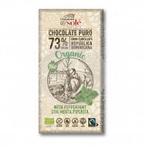 Chocolate Negro con menta 73% Eco Chocolates Sole