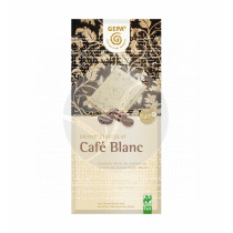 CHOCOLATE BLANCO CON TROCITOS DE CAFE BIO GEPA