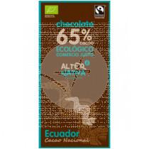 Chocolate 65% Cacao Ecuador Bio Comercio Justo Alternativa3