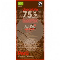 Chocolate 75% Cacao Peru Bio Comercio Justo Alternativa3