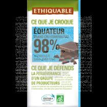 CHOCOLATE EXTREM CACAO 98% BIO ETHIQUABLE