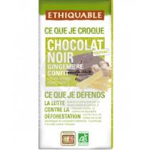CHOCOLATE NEGRO CON JENGIBRE CONFITADO BIO 100GR ETHIQUABLE