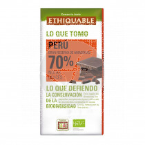 Chocolate Negro 70% Perú Ecológico Ethiquable