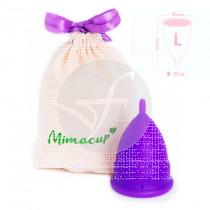 Copa Menstrual Violeta Opaca Talla L Mimacup