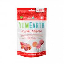 Piruletas Organicas De Frutas 4 sabores sin gluten Vegano Yumearth