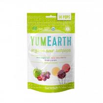 Piruletas Organicas De Frutas Acidas 3 sabores sin gluten Vegano Yumearth