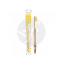 Cepillo dental de bambú adulto amarillo Nordics Oral Care
