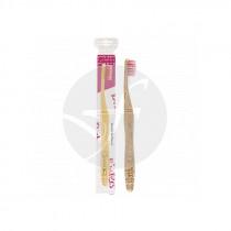 Cepillo Dental De Bambú Adulto Rosa Nordics Oral Care