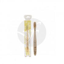 Cepillo Dental De Bambú Niños Amarillo Nordics Oral Care