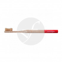 Cepillo dental de bambú adulto rojo Eco biodegradable Naturbrush