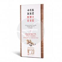 Chocolate Negro 71% Arándanos y Jengibre Bio Carre Suisse