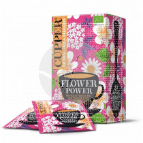 Infusion flower power bio Vegano sin azucar 20 bolsitas Cupper