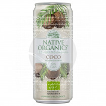 Refresco de coco sin gas eco sgluten vegano 330ml Native Organics