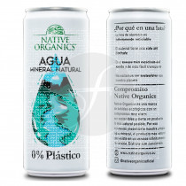 Agua mineral en lata 300ml Native Organics