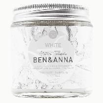 Dentífrico blanco tarro de cristal 100ml Ben&Anna