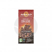 Chocolate con leche Bio 100gr Altereco