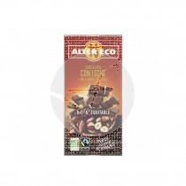 Chocolate con leche y avellanas Bio 100gr Altereco