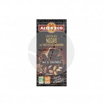Chocolate negro con trocitos de almendra Bio 100gr Altereco