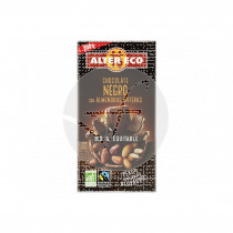 Chocolate negro con almendras enteras Bio 200gr Altereco