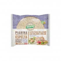 Piadina trigo Espelta con semillas de lino y amapola Bio 225 gr Biocop