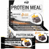 Barritas Protein Meal sabor Chocolate Negro con Naranja Pwd