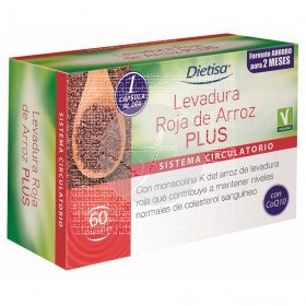 Levadura De Arroz Rojo Plus 30 capsulas Dietisa