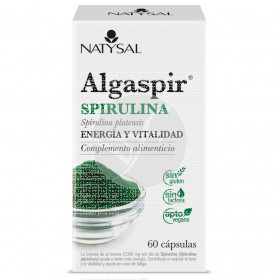 Algaspir Spirulina 60 capsulas Natysal