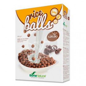 Cereales Rice Balls Bolitas De Arroz integral con Cacao Soria Natural