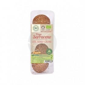 Galletas De Trigo Sarraceno Chía Quinoa y Cúrcuma Bio Solnatural