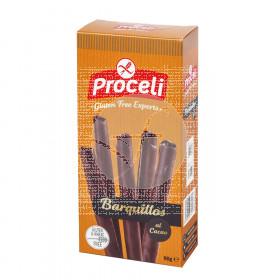 Barquillos con Chocolate sin gluten Proceli