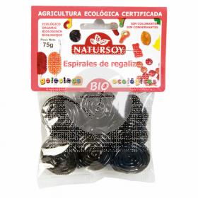 Bio Espirales De Regaliz Blando sin Azucar Natursoy