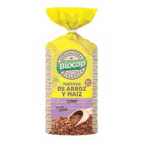 Tortitas De Arroz Maiz y Semillas De Lino sin gluten Biocop